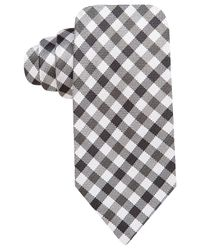 Vince Camuto | Black Pellico Gingham Slim Tie for Men | Lyst