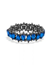 BaubleBar | Blue Crystal Spike Stretch Bracelet | Lyst