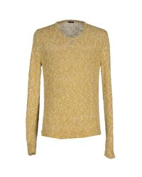Paolo Pecora - Yellow Jumper for Men - Lyst