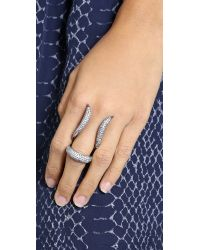 Noir Jewelry - Black Crystal Statement Ring - Clear - Lyst