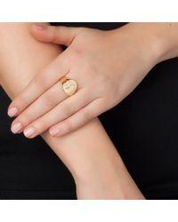 Sarah Chloe | Metallic Lana Oval Signet Ring | Lyst