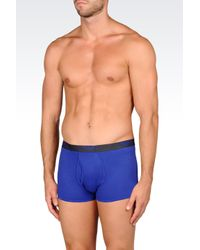 Emporio Armani | Blue Set Of Three Pairs Of Boxers for Men | Lyst