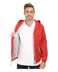 Perry Ellis - Red Nylon Hooded W/ Reflective Tape for Men - Lyst