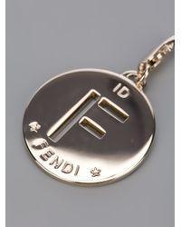 Fendi - Metallic F Identity Pendant - Lyst
