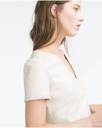 Zara | Natural Braided Dress | Lyst