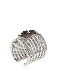Elise Dray - Metallic Cross Midi Finger Ring - Lyst