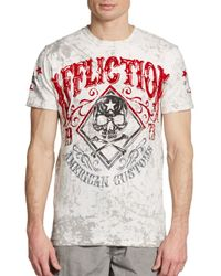 Affliction Gray Logo Graphic Cotton Tee for men