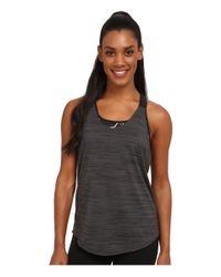 Nike | Gray Dri-fit™ Elastika Heathered Tank Top | Lyst