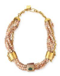 Ashley Pittman Metallic Mchanga Multi-strand Beaded Necklace