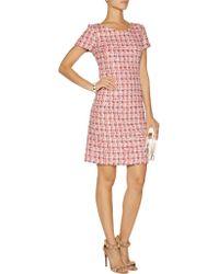 Oscar de la Renta Multicolor Bouclé-tweed Mini Dress