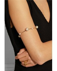 Rosantica - White Saturno Gold-Tone Freshwater Pearl Arm Cuff - Lyst