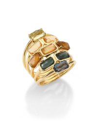 Ippolita | Metallic Rock Candy Marrakesh Semi-Precious Multi-Stone & 18K Yellow Gold Gelato Mosaic Cascade Ring for Men | Lyst