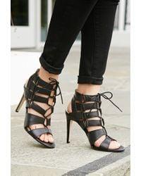 Forever 21 - Black Dolce Vita Cutout Gladiator Sandals - Lyst
