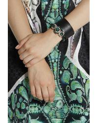Shourouk Green Baraka Rococo Swarovski Crystal Bracelet