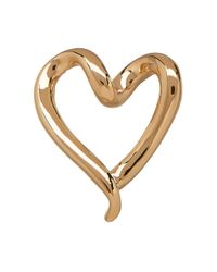 Lord & Taylor | Metallic 14k Yellow Gold Heart Omega Necklace Slide | Lyst