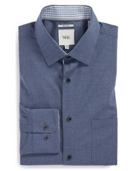 W.r.k. | Blue Extra Trim Fit Melange Dress Shirt for Men | Lyst