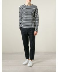AMI | Blue Tailored Cropped Trousers for Men | Lyst