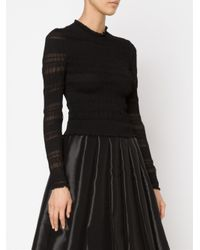 Alexander McQueen Black Ruched Knit Sweater