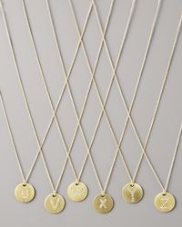 Roberto Coin - Metallic Letter Medallion Necklace - Lyst