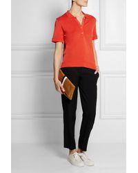Totême  Red Kensington Piqué Polo Shirt