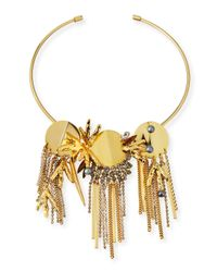 Lizzie Fortunato | Metallic Crystal Palace Collar Necklace | Lyst