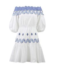 Peter Pilotto | White Pallas Off The Shoulder Dress | Lyst