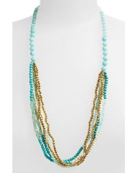 Panacea | Blue Howlite Multi Strand Necklace - Turquoise | Lyst