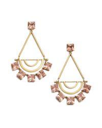 Tory Burch - Metallic Open Jeweled Statement Earring - Lyst