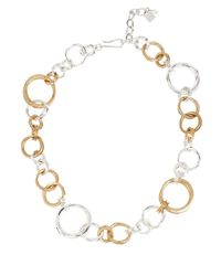Robert Lee Morris | Metallic Two-tone Ring-link Necklace | Lyst