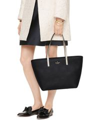 kate spade new york - Black Gallery Drive Small Harmony Leather Tote - Lyst