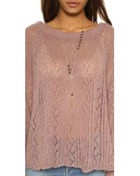 Free People | Pink Lights Will Shine Pullover - Heather Grey | Lyst