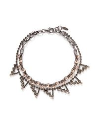 Joomi Lim | Metallic 'modern Muse' Crystal Bead Double Strand Necklace | Lyst