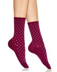 Ralph Lauren | Red Medium Pindot Trouser Socks | Lyst