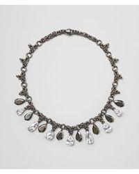 Bottega Veneta Metallic Naturale Silver And Stones Necklace