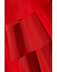 Rosie Assoulin - Red Bidi Bidi Bom Bom Ruffled Silk-faille Gown - Lyst