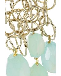 Etro Blue + V&A Gold-Tone Agate Clip Earrings