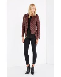 IRO   Red Keroa Quilted-Leather Jacket    Lyst