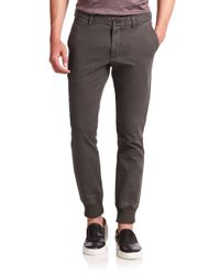 Michael Kors | Gray Knit-cuff Trousers for Men | Lyst