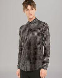 Sandro Black Dylan Sport Shirt Slim Fit for men