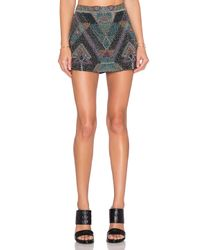 Chloe Oliver Multicolor Ventana Mini Skirt
