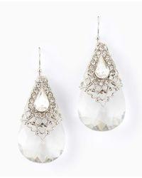 Ann Taylor - Metallic Pear Stone Drop Earrings - Lyst