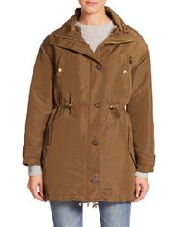 MICHAEL Michael Kors - Brown Fur-lined Anorak - Lyst