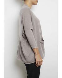 INHABIT | Gray Cashmere Upside Down Cardi | Lyst