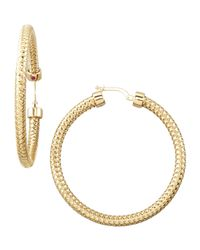 Roberto Coin | Metallic Primavera Hoop Earrings | Lyst