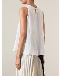 Vanessa Bruno | White Textured Bib Top | Lyst