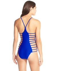 Body Glove | Black 'nina' Side Strap One-piece Swimsuit | Lyst