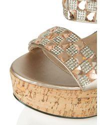 Daniel Metallic Shaymen Wedged Gem Sandals