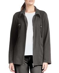 Eileen Fisher - Gray Organic Drawstring Jacket - Lyst