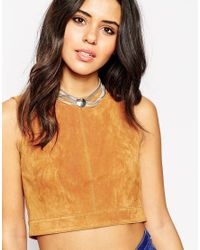 ASOS | Metallic Multi Chain And Circle Choker Necklace | Lyst