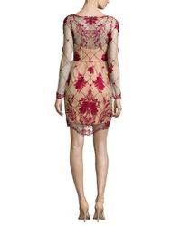 Notte by Marchesa - Long-sleeve Embroidered Cocktail Dress - Lyst